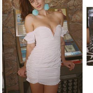 Jackson shirred Mini dress